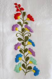 mexican floral embroidery pattern detail 2