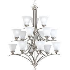 up down lighting chandelier progress lighting trinity collection 15 light brushed nickel