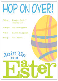 interesting easter invitation card template design with white