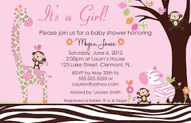 baby shower for girl design baby girl baby shower invitations
