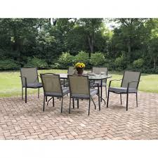 Patio Dining Set by Mainstays Oakmont Meadows 7 Piece Patio Dining Set Seats 6 Shoptv