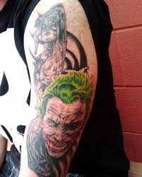 joker and harley sleeve tattoos photo 2 real photo pictures