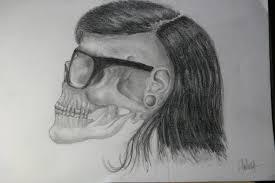skrillex u0027s skull by helenasally72 on deviantart
