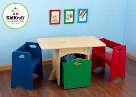 kidkraft table with primary benches