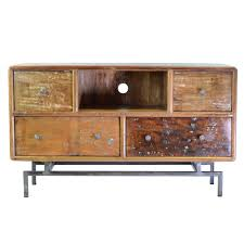 Media Console Tables by Mango Wood Media Console With 4 Drawers