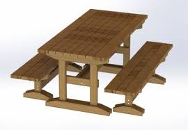 8ft trestle style picnic table with benches plans easy to build