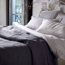 Grey Quilted Comforter Bedroom Quilted Bedspreads With Striped Rug And White Brick Walls
