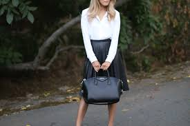 the pleated leather skirt beyond basic