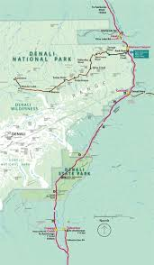 denali national park map boundary map of denali national park