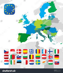 European Countries Map European Union Map All Eu Countries Stock Vector 61327414