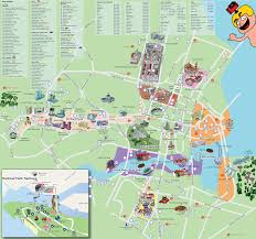 Chicago Tourist Map Singapore Map Tourist Attractions New Zone