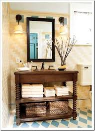 turn furniture into a vanity for bathroom style