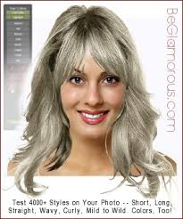 gray hair try virtual hairstyle color ideas online on your photo