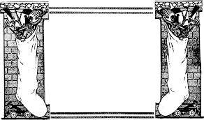 clipart xmas stocking frame