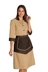 blouse femme de chambre ensemble femme de chambre blouse et tablier pour hôtellerie