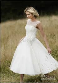 50 s wedding dresses discount vintage 50s iris white tea length sleeve