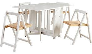 compact table and chairs george home folding compact dining table and 4 chairs white home