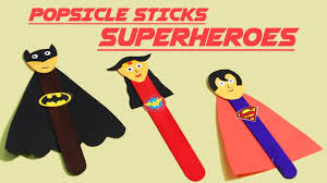 quick u0026 easy superhero popsicle crafts diy popsicle stick crafts