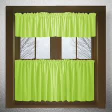 Green Kitchen Curtains Inspiration Of Green Kitchen Curtains And Solid Lime Green Cotton