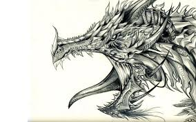 cool pencil drawings of dragons images clip art library