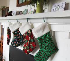 Stocking Designs by How To Sew Christmas Stockings With A Faux Fur Cuff