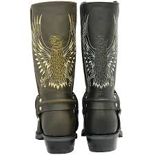 best cruiser motorcycle boots bald eagle waxy leather motorcycle boot