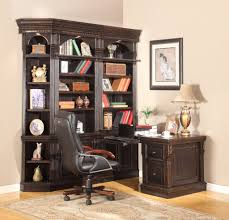the venezia library 4 piece corner wall 12773 with wall unit desk