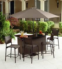 Patio Bar Furniture Clearance by Outdoor Wicker Patio Bar Set Icamblog