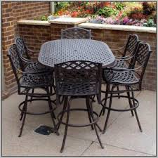 Bar Height Patio Furniture Sets Bar Height Dining Set Outdoor Chairs Home Decorating Ideas Hash