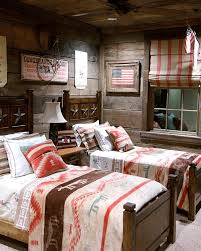 American Flag Home Decor Home Design Rustic Style Kids Bedroom Double Bed American Flag