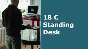 the 18 euro screwless standing desk how to ikea hack youtube