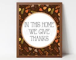 we give thanks etsy