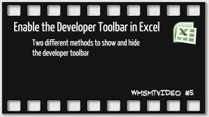 episode 5 how to enable or disable the developer tab in excel