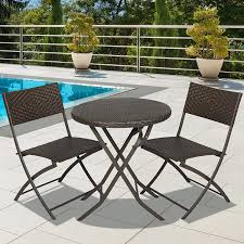 Large Bistro Table And Chairs Best Choice Products 3pc Rattan Patio Bistro Set