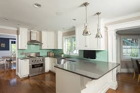 Transitional White Kitchen - kitchen remodel with custom white cabinetry u2014 ackley cabinet llc