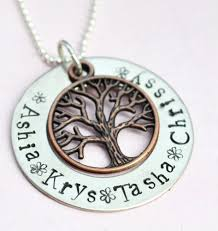 mothers day necklace personalized personalized necklace personalized brass family tree