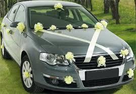 car ribbon flower and ribbon wedding car decoration