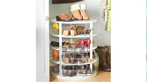 Container Store Shoe Cabinet Minimalist Dressing Room With Rotating Shoe Rack Wood Tile