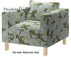 green chair slipcover ikea karlstad chair mader slip cover botanical leaf aqua blue green