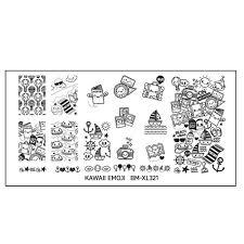 bundle monster kawaii emoji nail art stamping plate u2013 passport to