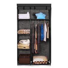 Clothes Cupboard Clothes Closet Cupboard Hanger Rack Shelf Cabinet Home Space Saver