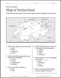 switzerland map worksheet free to print pdf file with six