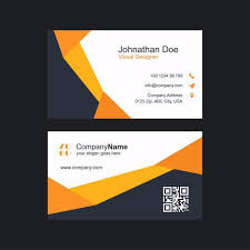 modern clean and creative business card vector template template