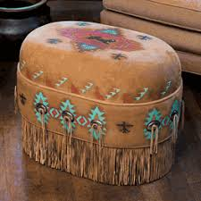 southwestern chairs and ottomans buffalo spirit deer suede ottoman home pinterest ottomans