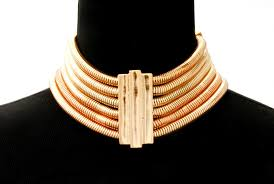 chunky chain choker necklace images Gold choker necklace multi layered cocoon chain necklace with jpg