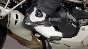 motorcycle track boots tcx s sportour evo boots review at revzilla com youtube