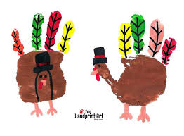pilgrim turkeys thanksgiving handprint craft handprint