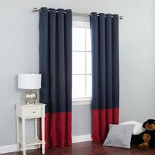 Grey Red Curtains Amazon Com Best Home Fashion Colorblock Thermal Insulated