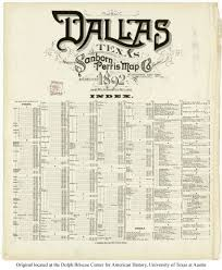 Map Dallas Sanborn Maps Of Texas Perry Castañeda Map Collection Ut