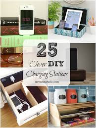 homemade charging station remodelaholic get rid of cord clutter with these 25 diy charging